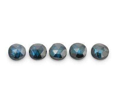 Diamonds Teal 2.1mm Round Rose Cuts (T)