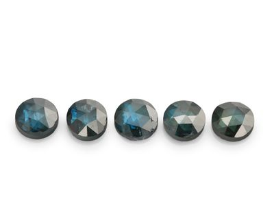 Diamonds Teal 2.20mm Round Rose Cuts (T)