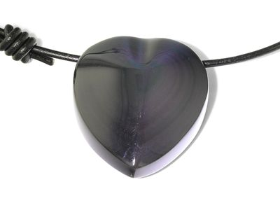 Rainbow Obsidian 40x34mm Pear Pendant (N)