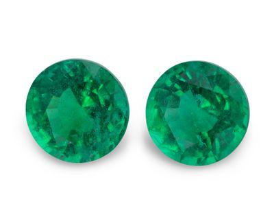 Emerald 6.9mm Round (E) PAIR