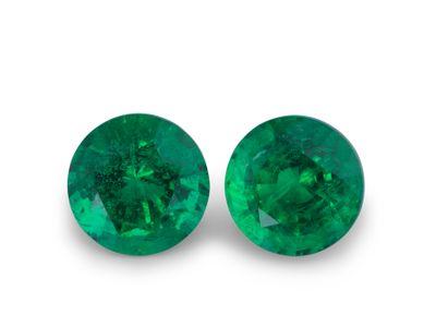 Emerald 6.2mm Round (E) PAIR