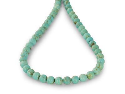 Turquoise Number Eight 8mm Round (E)