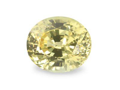 Sapphire Pale Yellow 8.8x7.7mm Oval (E)