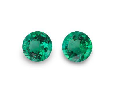 Emerald 5mm Round (E) PAIR