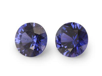 Sapphire Purple 5.3mm Round (E) PAIR