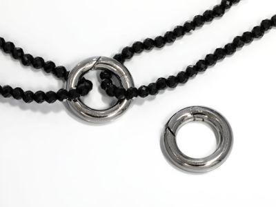 Clasp S/S 15mm circle Polished w Trigger