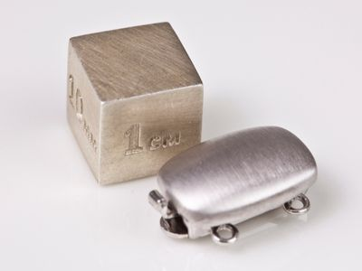 Clasp S/S 14x10mm 2-Row Matt Cushion