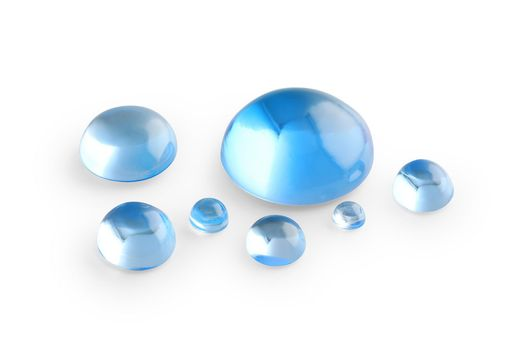 Topaz Medium Blue 11mm Round Cabochon (T)