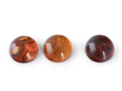 Amber 7mm Cabochon Round (E)