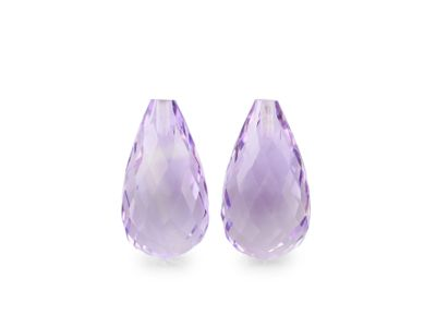 Amethyst Light 15x8mm Briolette (N)