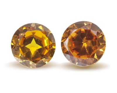 Synthetic Yellow Sapphire 11mm Round (S)