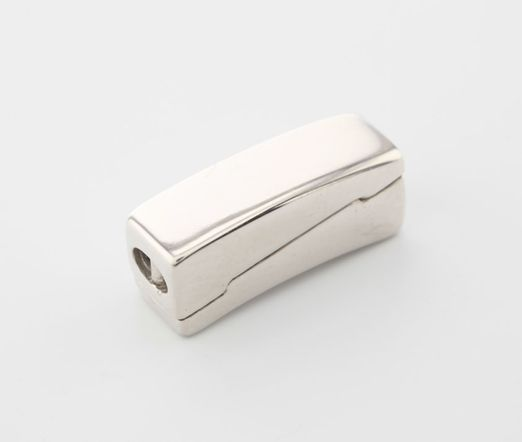 Clasp S/S 23.7x14.8mm Polished Slide Magnetic Rectangle
