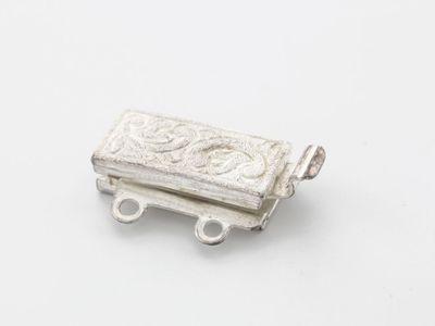 Clasp S/S 2 Row 12x6mm Frosted Box