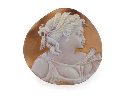Cameo 55.5x54mm Lady's head (N)