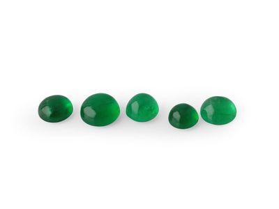 Emerald 3.25mm Round Cabochon 1st Grade (E)