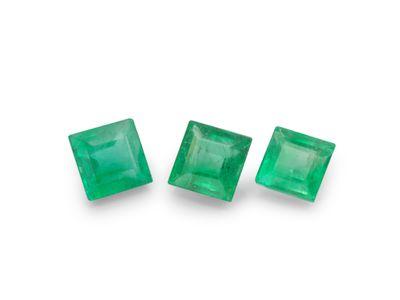 Emerald 3.25mm Square Carre 1st Grade (E)