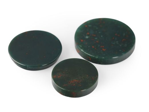 German Cut Bloodstone 14mm Round Disc (N)
