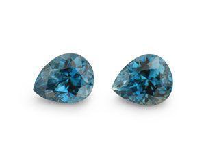 Zircon Blue 7.8x6.5mm Pear PAIR (E)