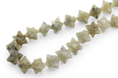 Labradorite 14-16mm Merkabah Strand (N)