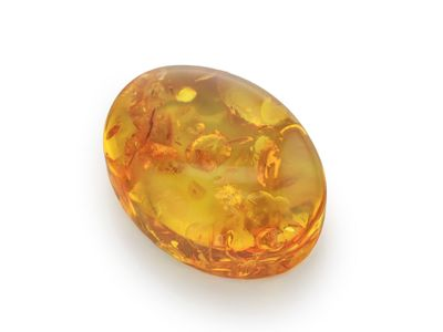 Amber 25x16.3mm Oval Cab (E)