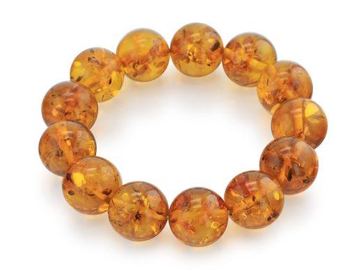 Amber 16mm Polished Round Bracelet (T)