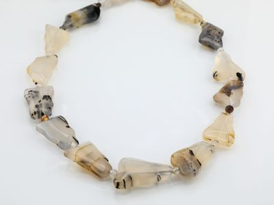 Beads Agate Montana Faceted Clouds (N)
