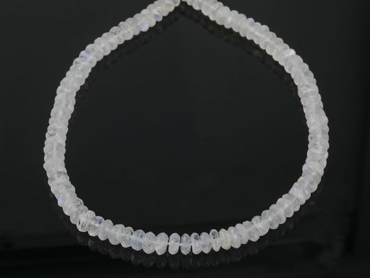 Moonstone Bluetop 7mm Faceted Button Strands (N)