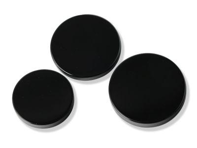 German Cut Onyx 14mm Plain Round Disc (T)