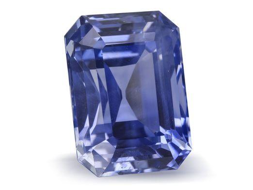 Sapphire Ceylon Blue 13.9x10.15mm Emerald Cut GSL Cert (N)