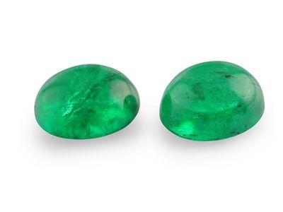 Emerald 6.5x5mm Oval Cabochon (E)