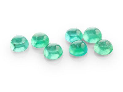 Emerald 4mm Round Cabochon (E)