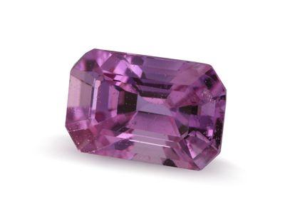 Pink Sapphire 6x4mm Emerald Cut. Mid-Dark Pink (E)