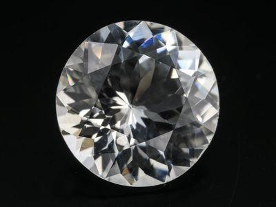 White Sapphire 8.5mm Round (E)