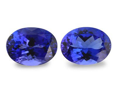 Tanzanite 12x9mm Oval PAIR (E)