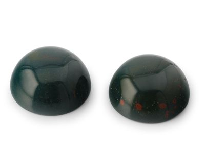 German Cut Bloodstone 14mm Round Cabochon (N)