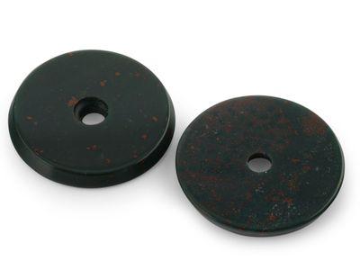 Bloodstone Single Hole 18mm Round Disc (N)