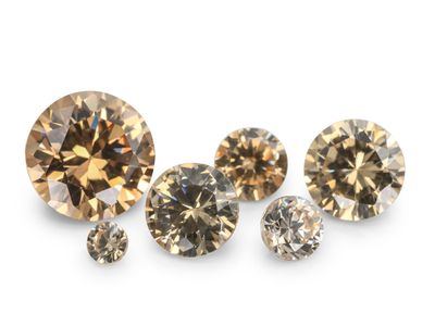 Signity CZ Champagne 2mm Round (S)