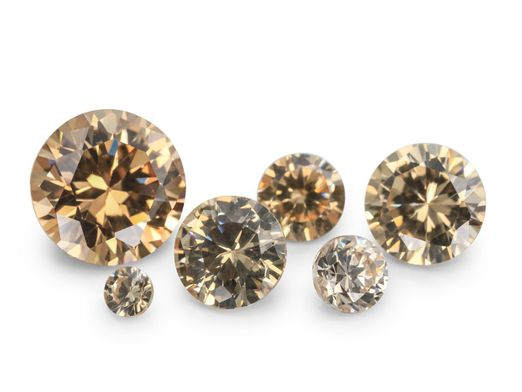 Signity CZ Champagne 3.5mm Round (S)