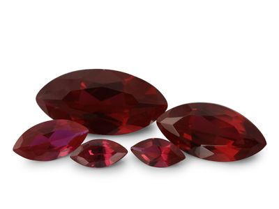 Syn Ruby Dark Red 12x6mm Marquise (S)