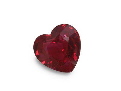 Ruby 5.5x5.3 Heart Bright Red (E)