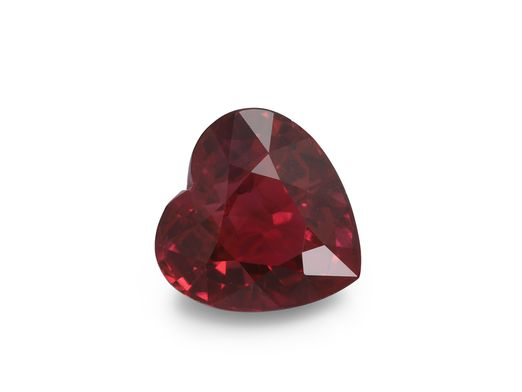 Ruby 5.35mm Heart Bright Red (E)