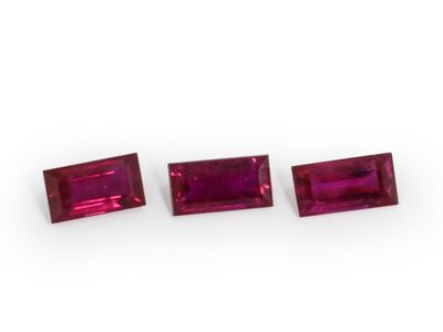 Ruby 4x2mm Baguette Good Red (E)