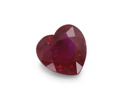 Ruby 5.5x5.35mm Heart Mid Red (E)