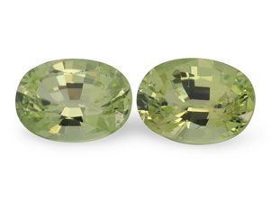 Chrysoberyl 8.1x5.9mm Oval Matching Pair (N)
