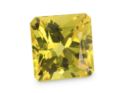 Sapphire Yellow 10.71x10.52mm Radiant Em/c GSL Cert Thai (E)