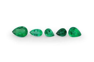 Emerald 3x2mm Pear Shape 1st Grade (E)
