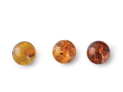 Amber 5.5mm Round Bead H/D (E)