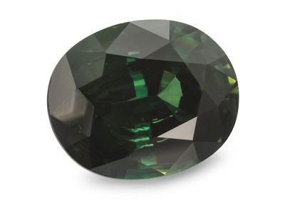 Sapphire Parti Bl/Gr 11.25x9.19mm Oval (E)