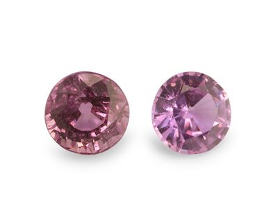 Pink Sapphire 5mm Round Good Pink (E)