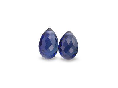Ceylon Sapphire 6x4mm -/+ Briolette Str Blue Pair (E)